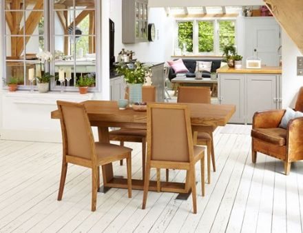 Olten Dark Oak Extending Dining Table